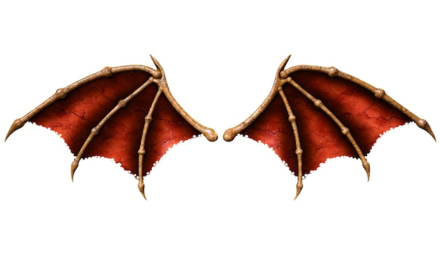 Devil Wings Demon Wing Plumage Isolated On White Background Photo