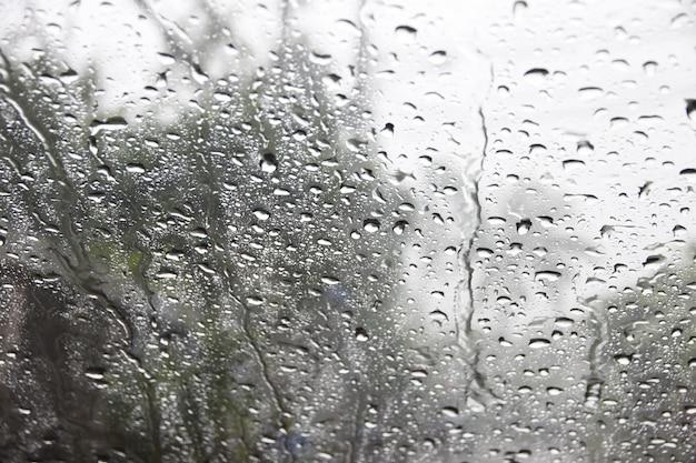 A dew on the windscreen car.