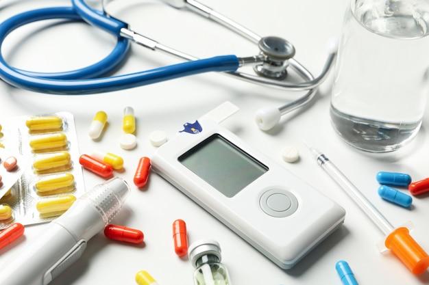 Аксессуары для диабетиков, крупный план