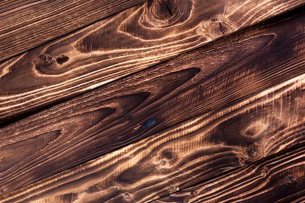 Diagonal dark wooden table