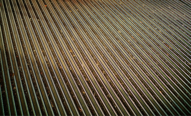 Diagonal golden metal panels texture background