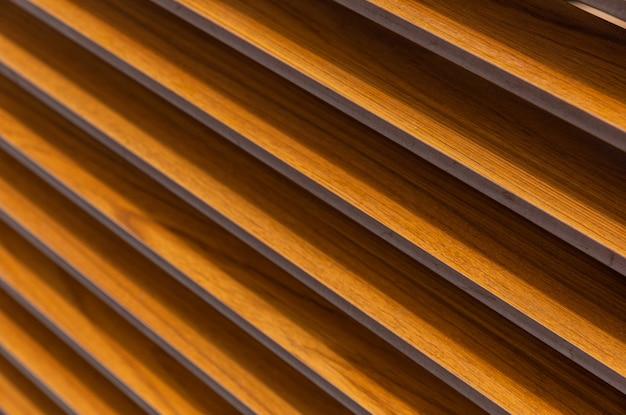 Diagonal lines on metal corrugated surface, urban design.