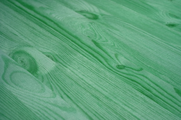 Diagonal pattern of green colored wood plank surface for background or banner