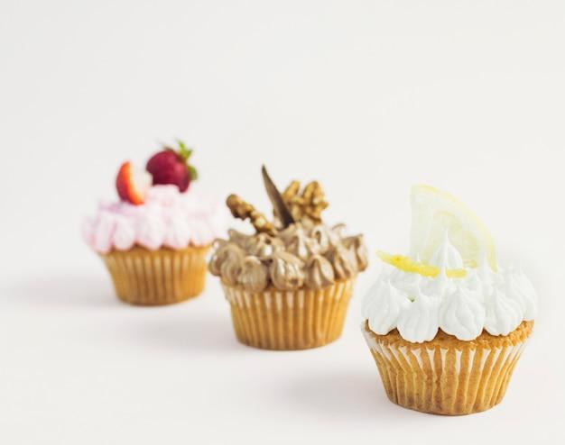 Диагональные вкусные кексы разных вкусов