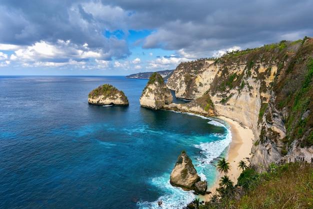 Diamond beach in nusa penida island, bali in indonesia.