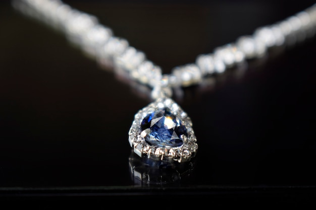 Diamond jewelry diamond necklace pendant luxurious, expensive