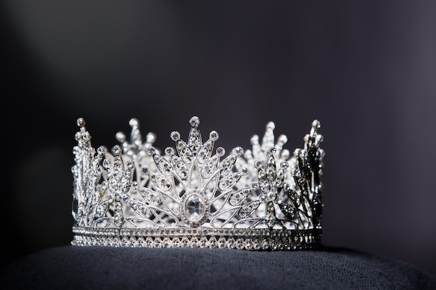 Diamond silver crown for miss pageant beauty contest