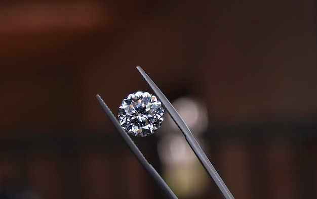 Diamonds are expensive and rare for jewelry making.