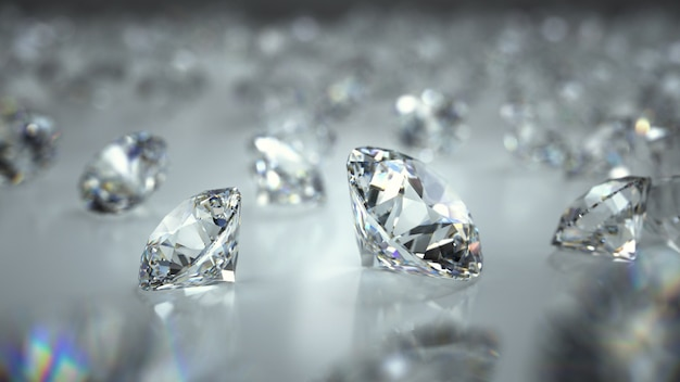 Diamonds on a background