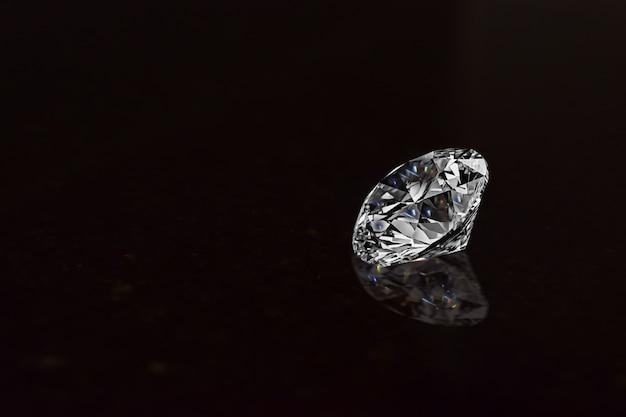 Diamonds for making jewelry on dark