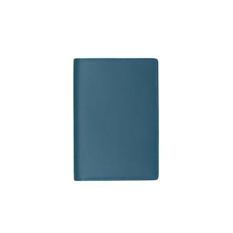 白い背景で隔離の日記カバー