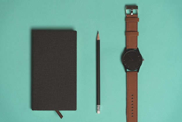 Diary, pen and watch - all that a young man needs