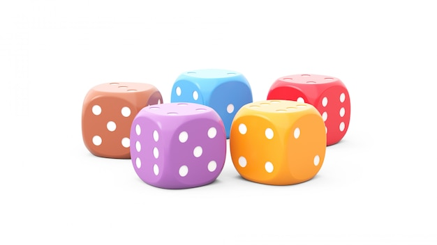 Dice of different colors