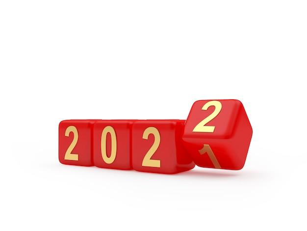 Кости вращаются и меняют числа в новом году