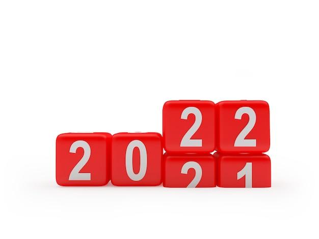 Игральные кости с изменяющимися числами нового года