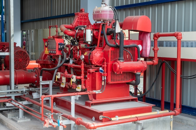 Diesel generator for fire pump at  at industry zone