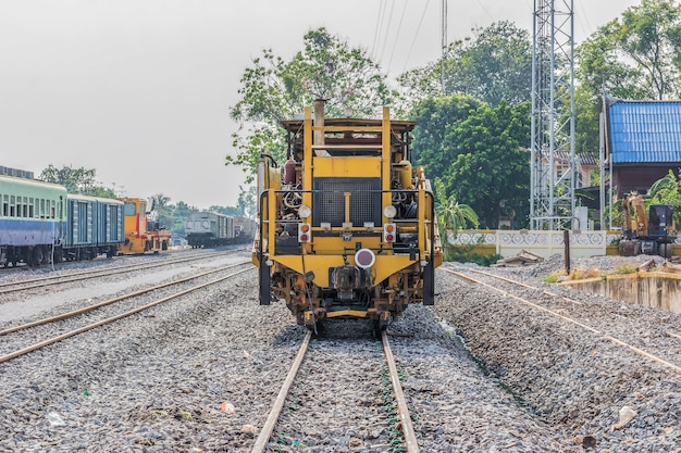 Diesel locomotive, train in thailand