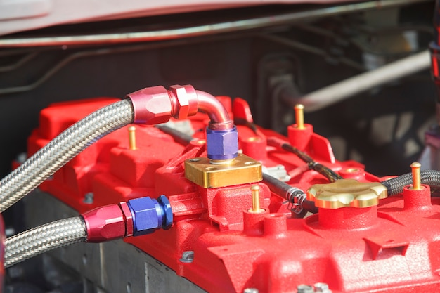 Дизельный двигатель гоночного автомобиля