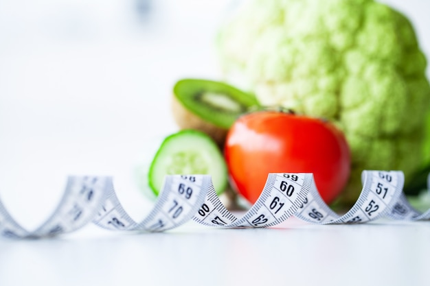Diet, fitness and healthy food diet concept