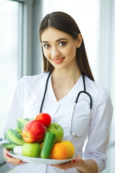 Diet and healthy. nutrition. portrait of a dietitian's