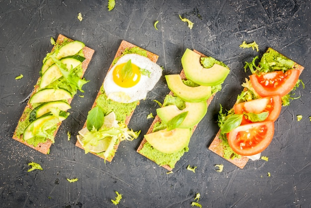 ワカモレと新鮮野菜のダイエットサンドイッチ