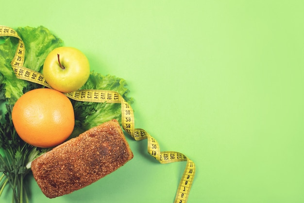 Diet, weigh loss, healthy eating, fresh food concept