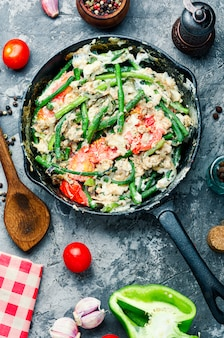 Dietary scrambled eggs from proteins
