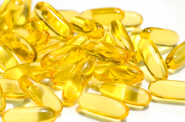 Dietary supplement in soft gelatin capsule.