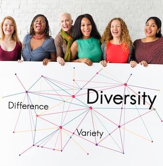 Differenza varietà diversità lavoro di squadra successo