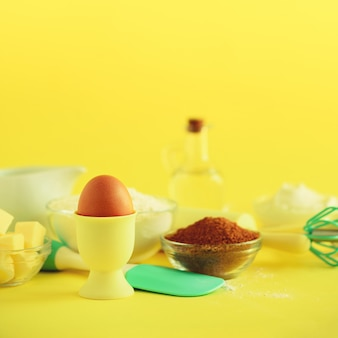 Different baking ingredients
