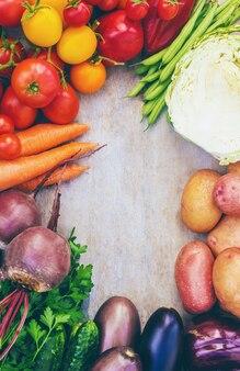 Different bio vegetables. selective focus. bio food.