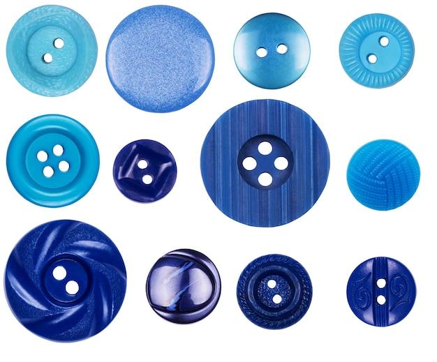 흰색 바탕에 다른 파란색 버튼
