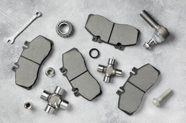 Different car accessories arrangement