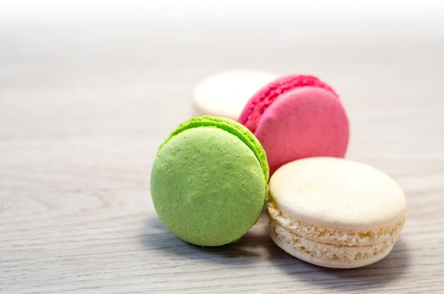 Different color macaroons