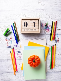 Different colorful stationery for student