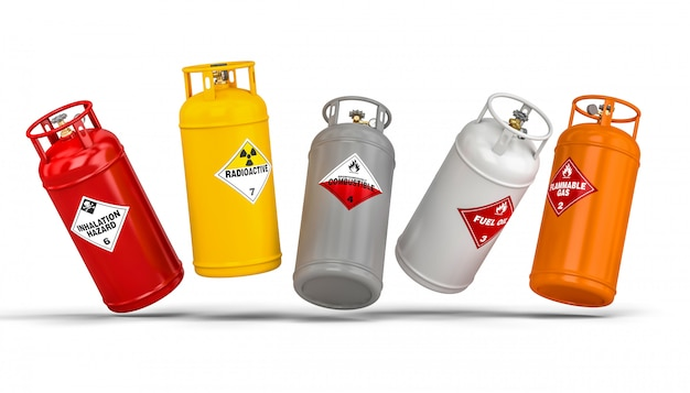 Different dangerous cylinder container