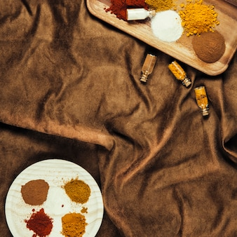 Different exotic indian spices