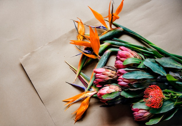 Different flowers for a bouquet