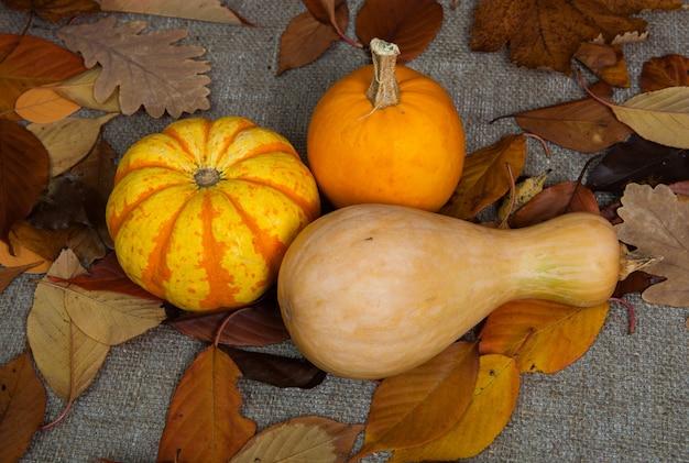 Различные фрукты и овощи в плетеной корзине на деревянном столе