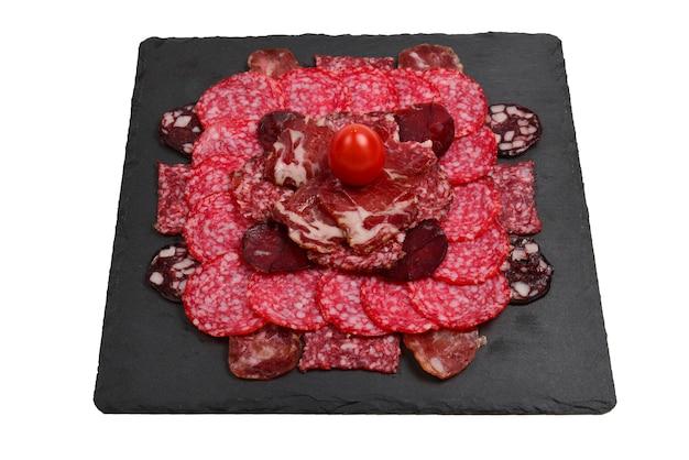Различные виды мясных нарезок на досках