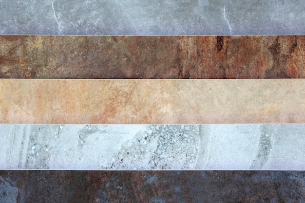 Different patterns of types of marble surfaces and textures
