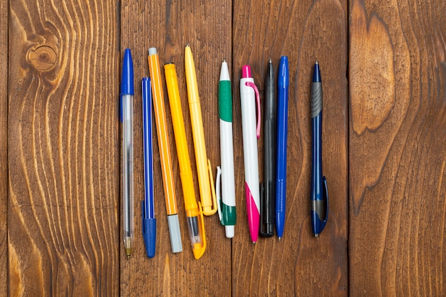 Different pens