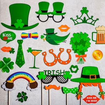 Different photo booth props for st patricks day party