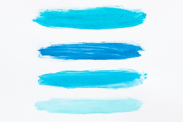 Different shades of blue watercolor