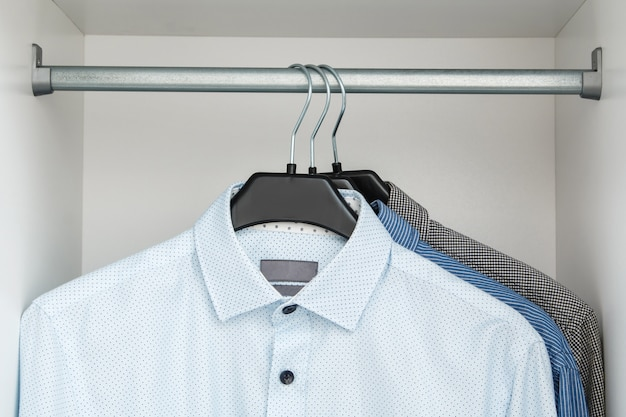 Different shirt in the closet