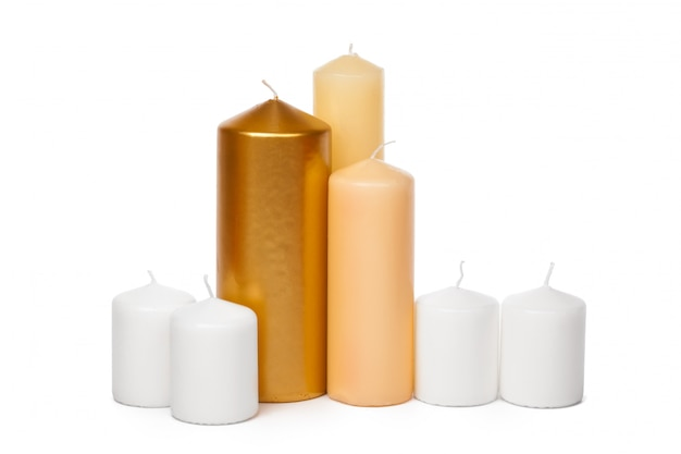 Different sized candles
