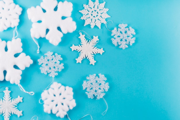 Different snowflakes on table Photo | Free Download