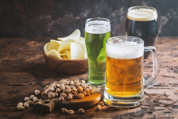 さまざまな種類のクラフトビール