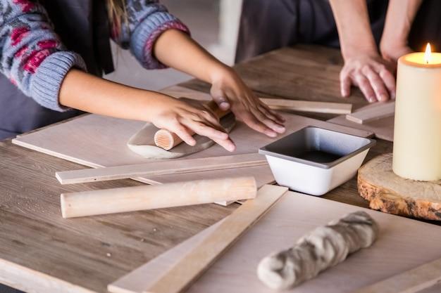 Different stuff for ceramis' workshop for kids