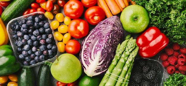 거친 배경에 다른 맛있는 야채